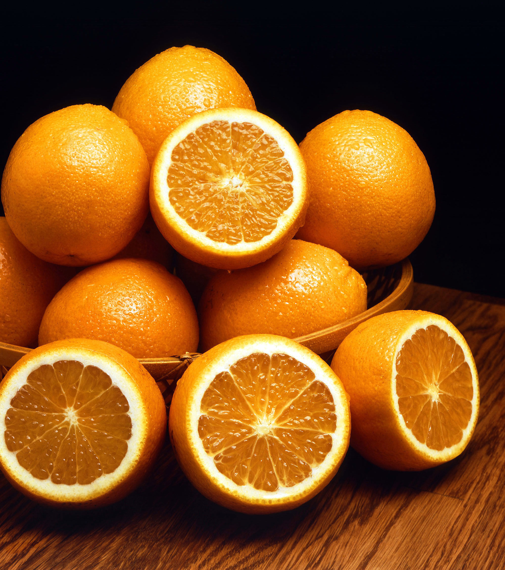 The colour orange derives its name from the orange fruit.