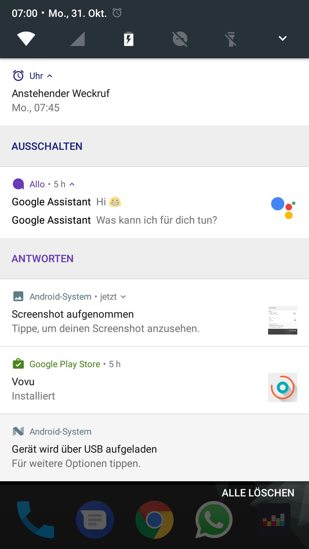 Datum-Anschluss-App für Android