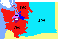 where is 360 area code on map