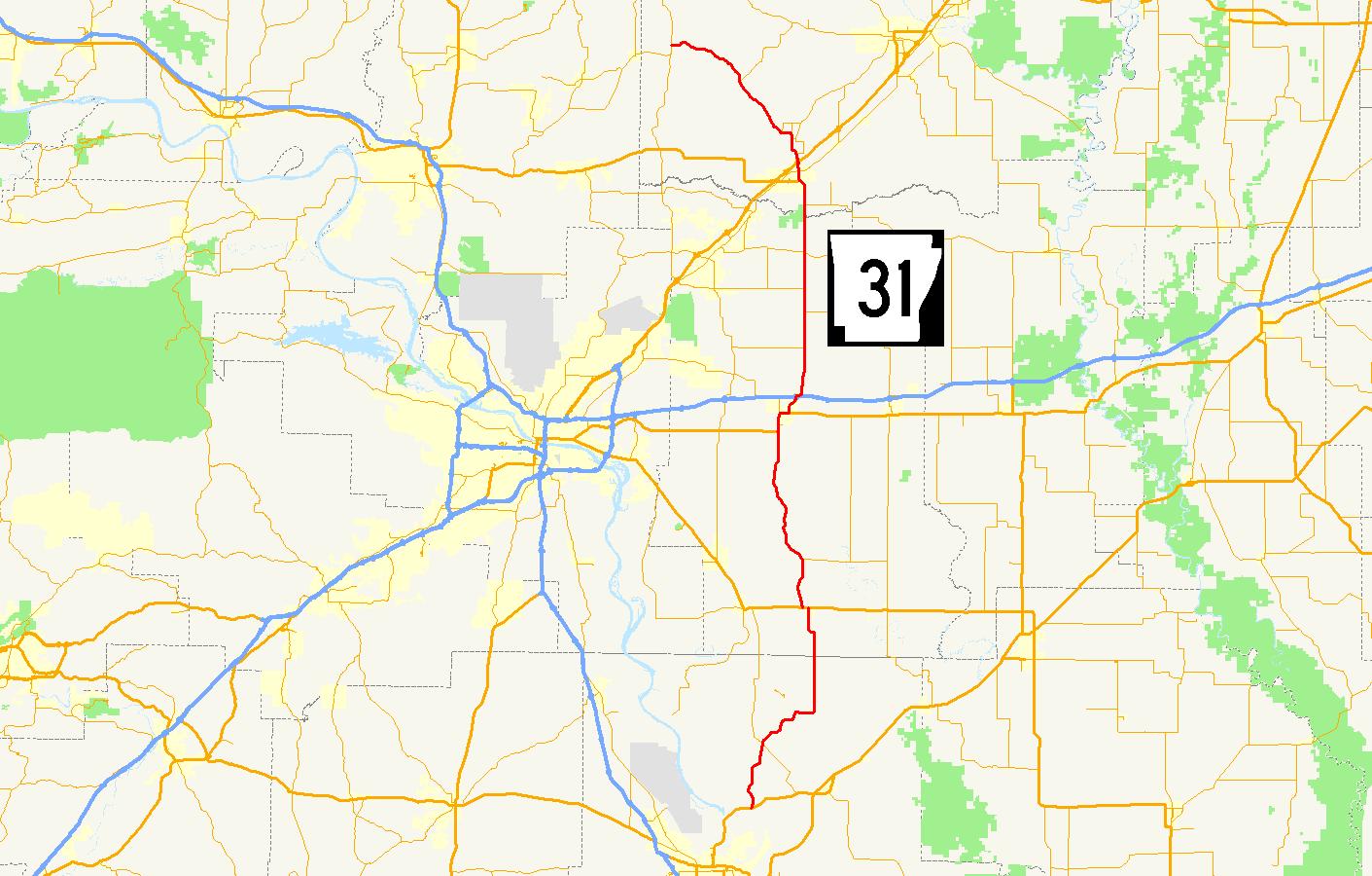 I 40 Arkansas Map.Arkansas Highway 31 Wikipedia