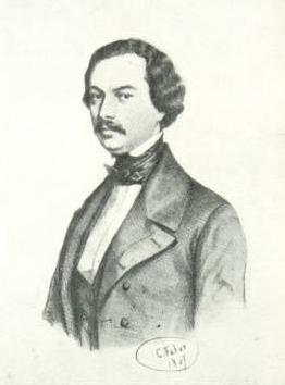 Огюст Маке.Литография С. Фабера, 1847