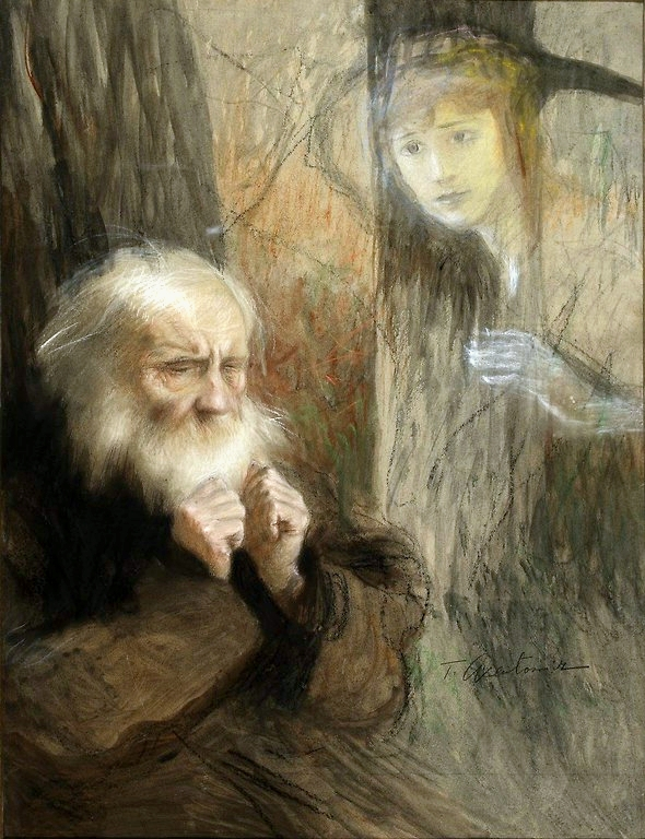 Axentowicz Old man and a ghost.jpg