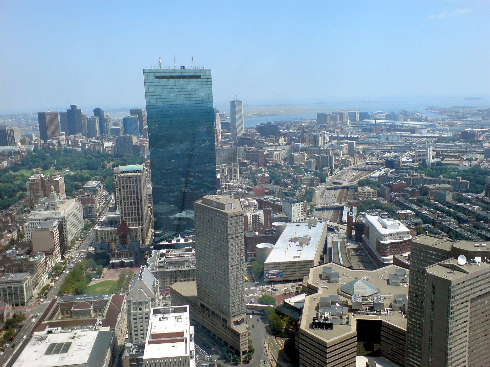 Blick vom Prudential Tower über Boston