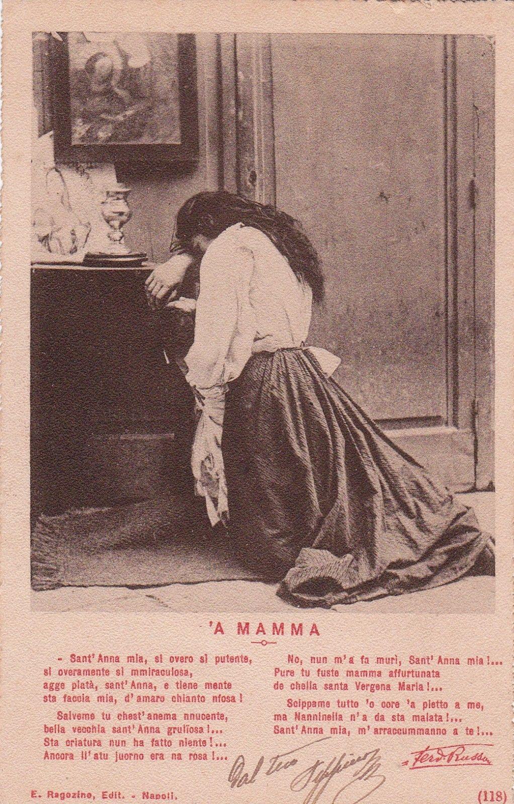 Filecostumi Napoletani Poesia Russo A Mamma 1900jpg