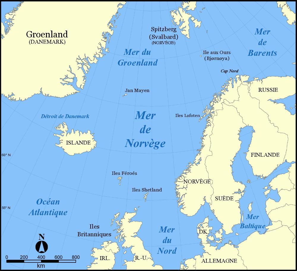 mer du nord carte - Image