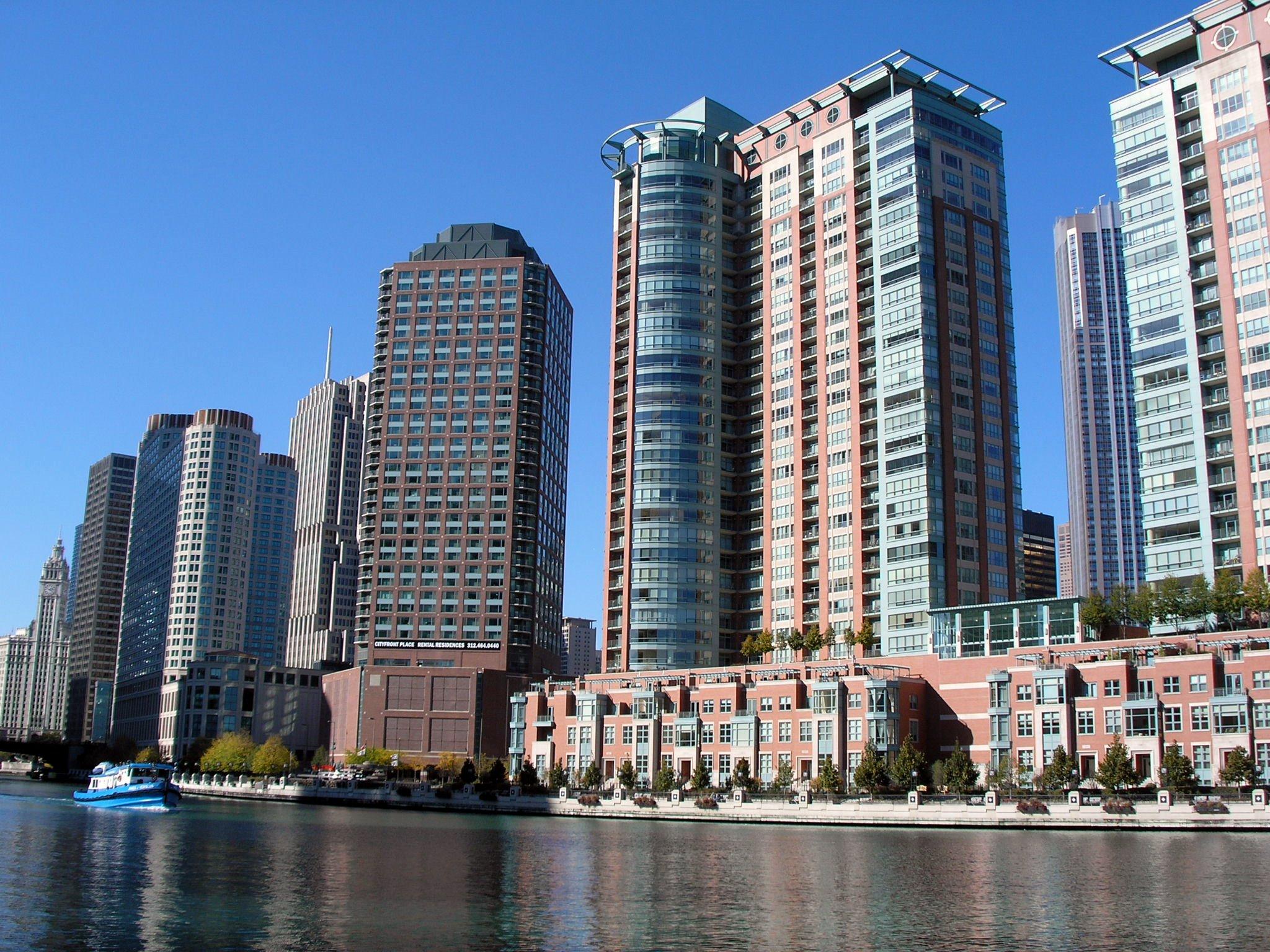 Chicago River Buildings Ddimajpg Wikimedia Commons