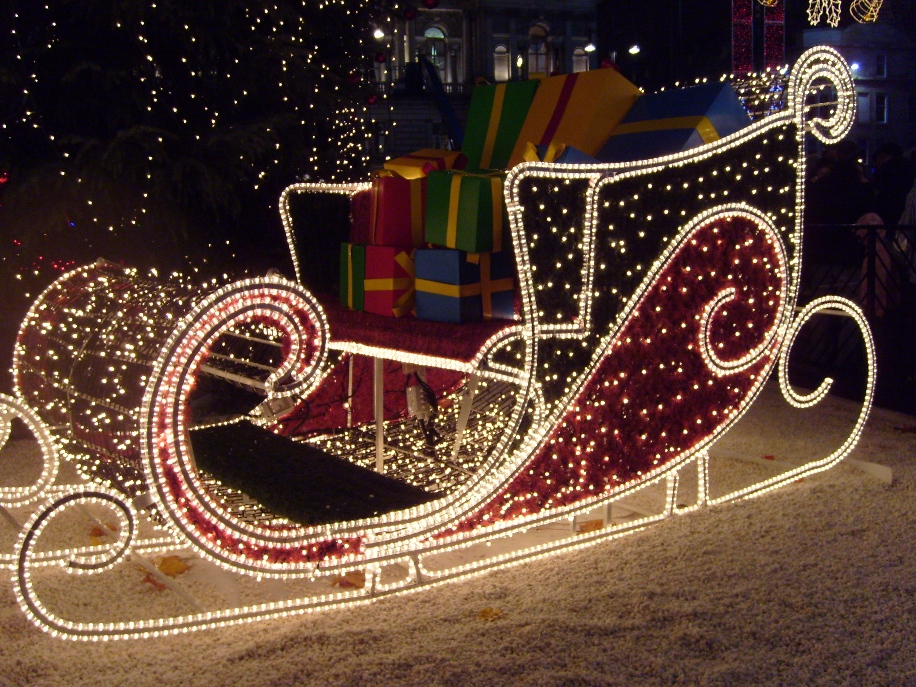 File Christmas Sleigh Jpg Wikimedia Commons