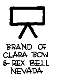 Clara Bow and Rex Bell's Nevada ranch cattle brand.png
