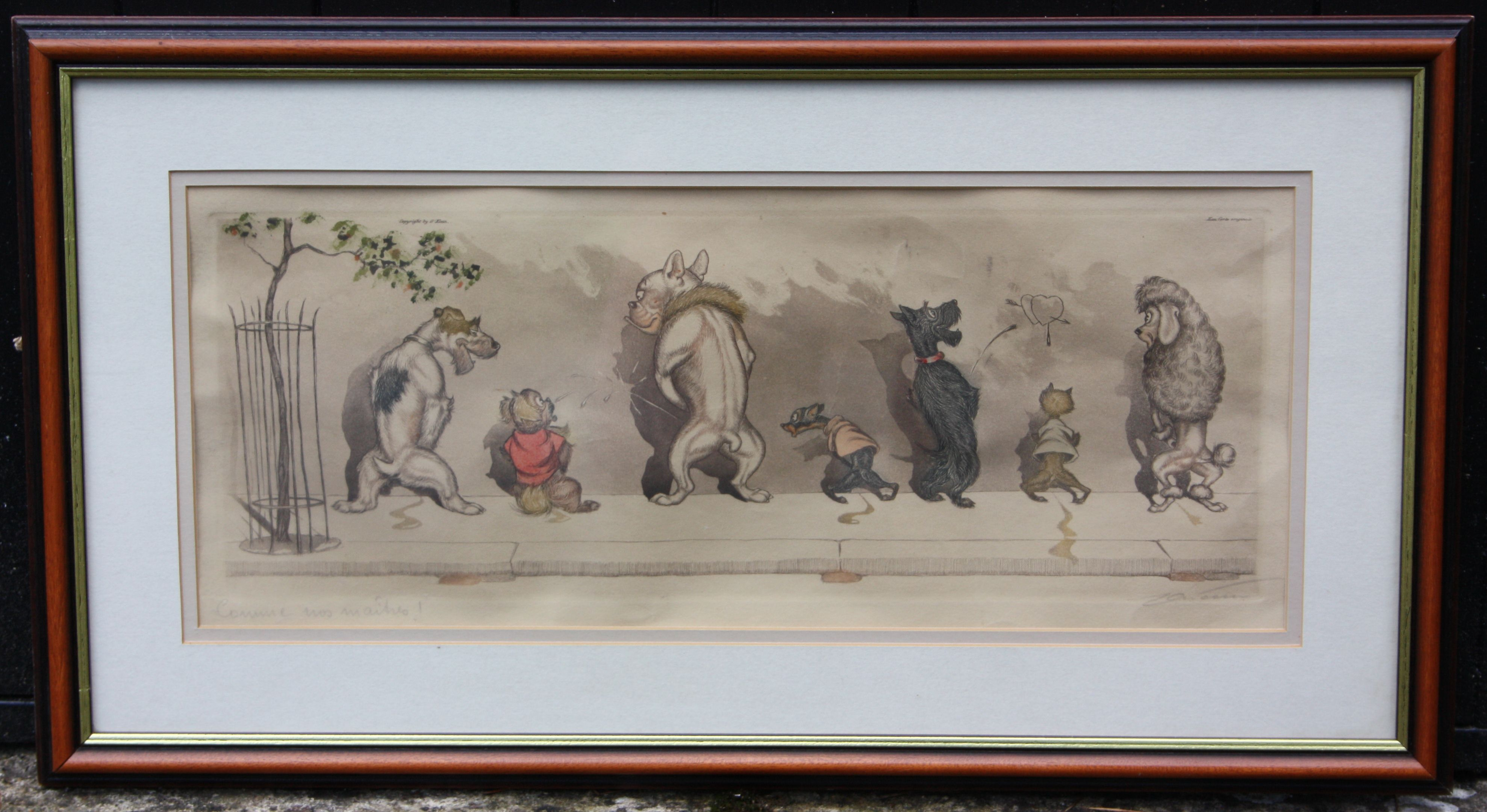 Antique Painting Signed G S Rische