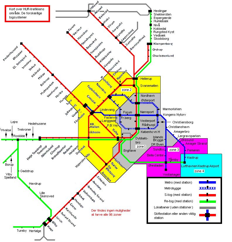 dsb zoner i hovedstadsområdet