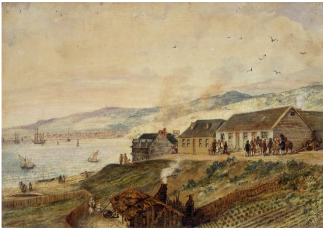 Courts of justice, wellington ca 1843