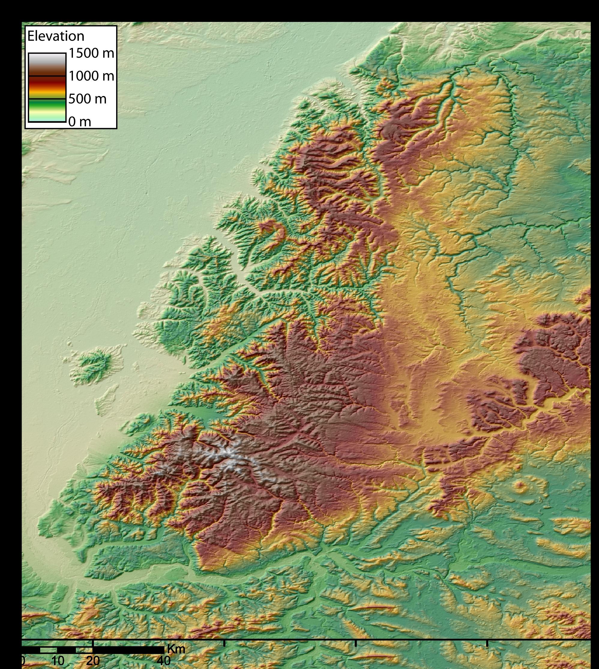 Carte topographique de la Forêt-Noire