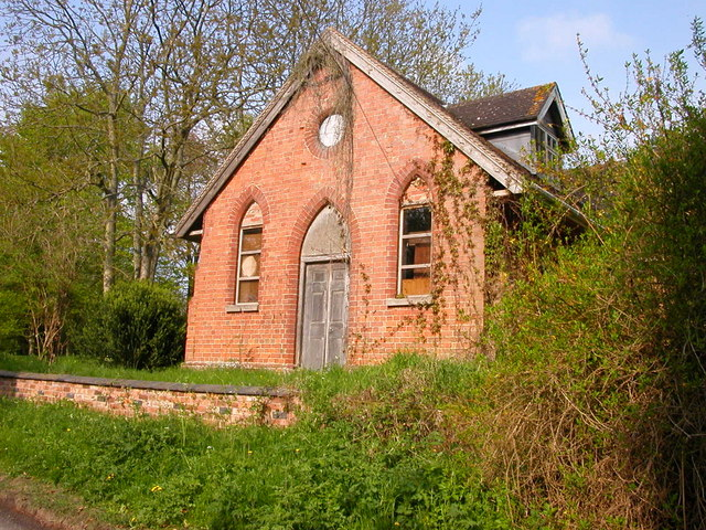 Draycote. Dilapidated Baptist Chapel built in 1869.