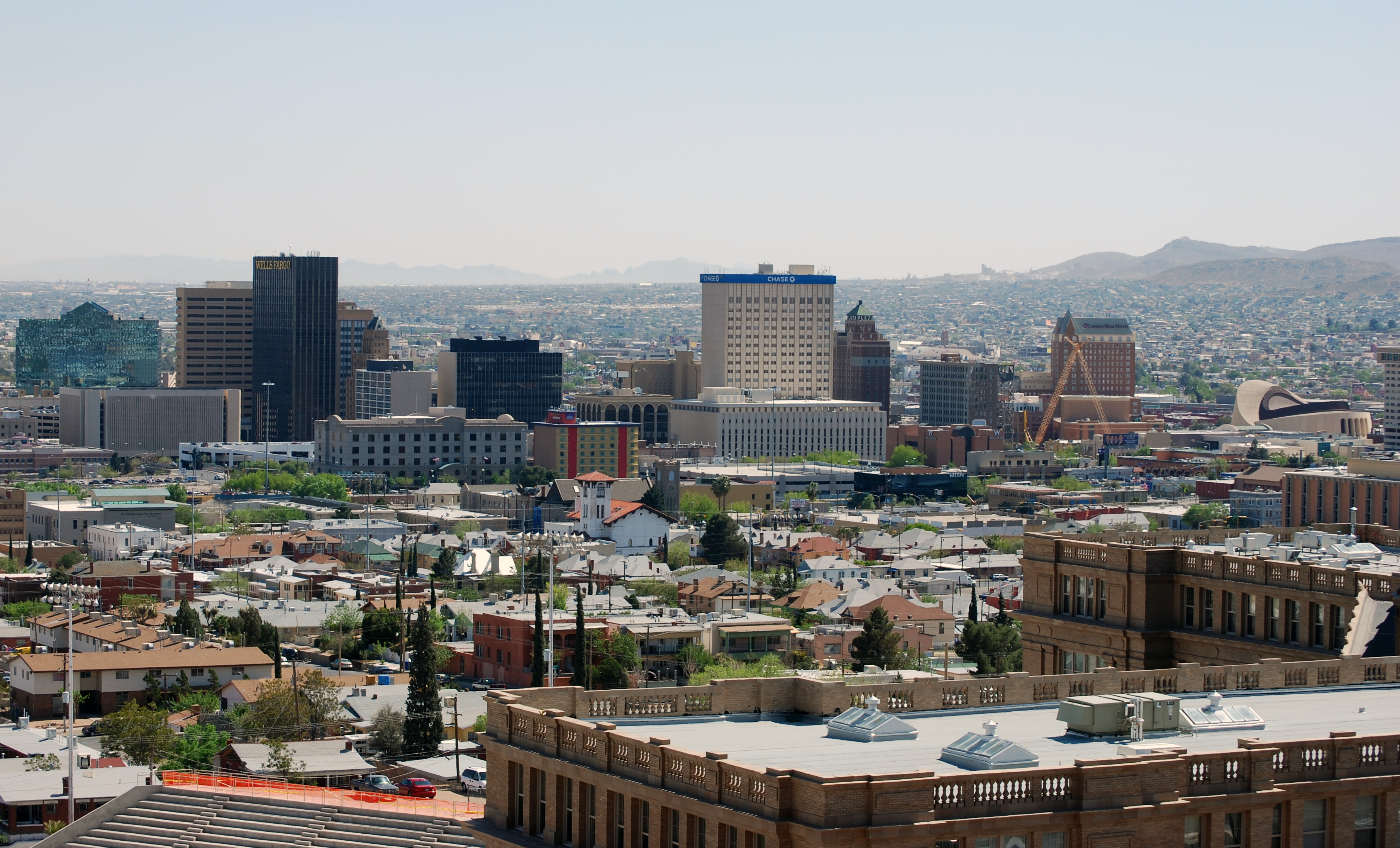 El Paso Skyline From The North