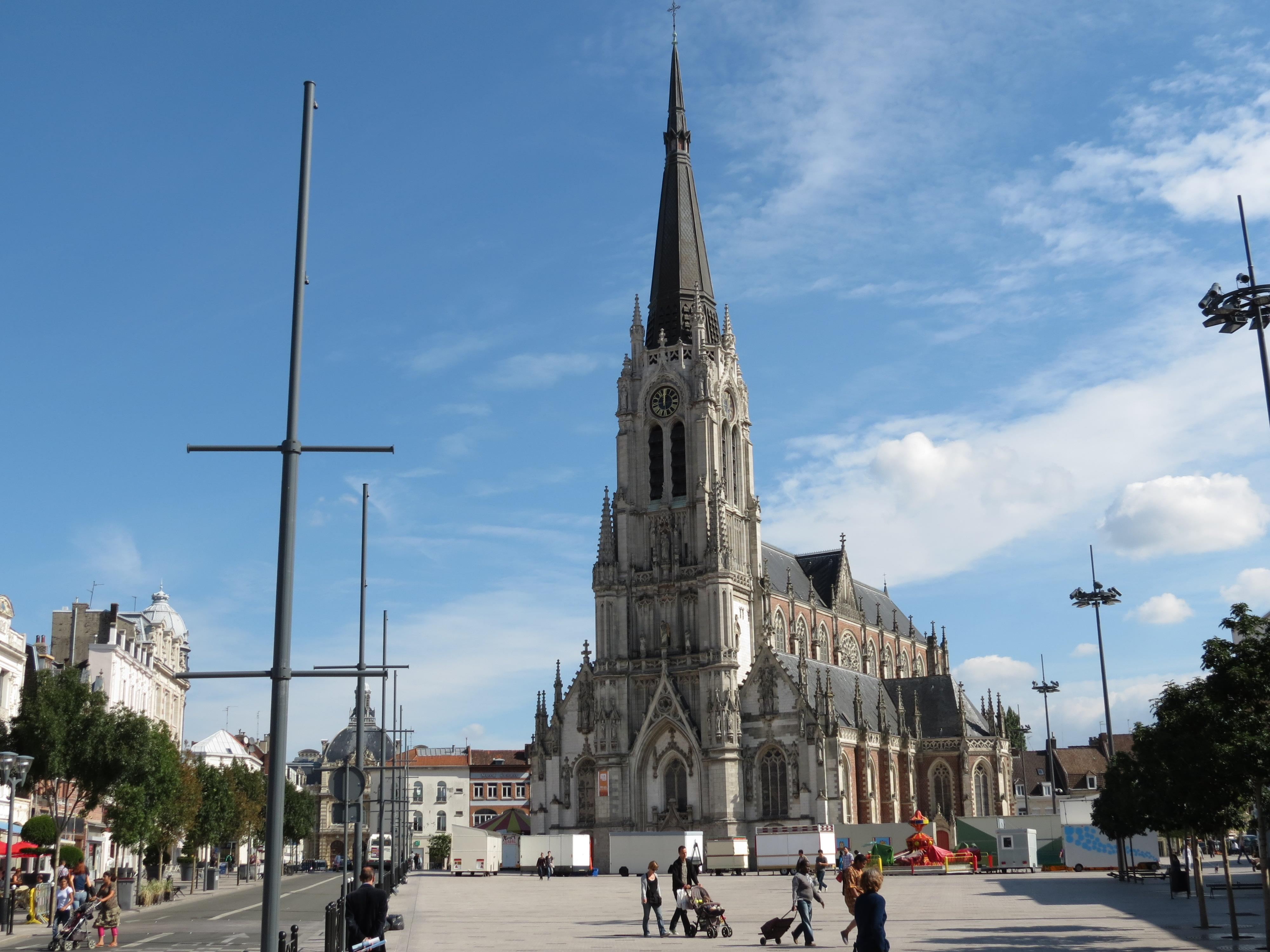 Tourcoing France  city pictures gallery : Visiting the Saint Christophe church, Tourcoing, France: partly ...