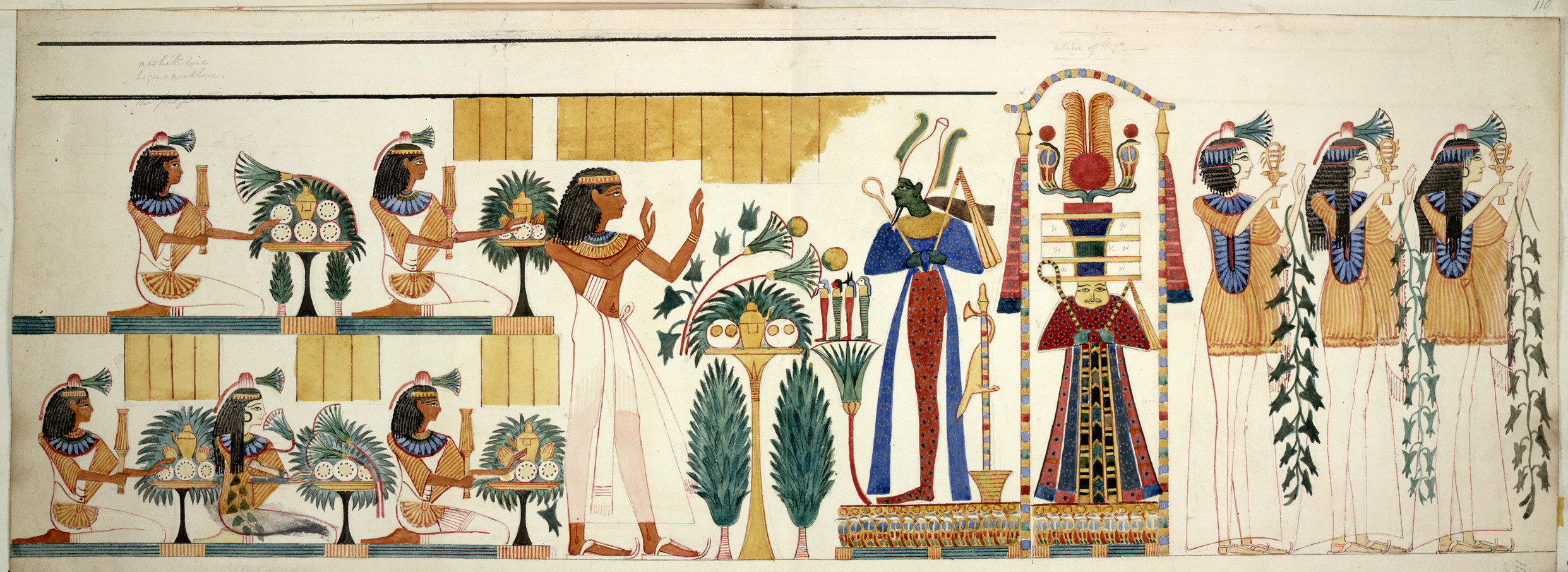 File egyptian tomb wall painting egyptian collections for Egyptian mural paintings