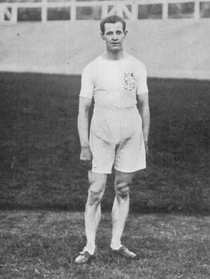 Emil Voigt, founder of 2KY on behalf of the Labor Council of New South Wales. This photo was taken in earlier days when Voight was a prominent British athlete, and winner of the Gold Medal for the five mile race at the 1908 Summer Olympics in London. Emil Voigt.jpg
