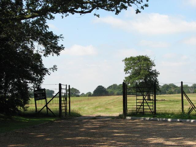 Entrance to Gunton Park near Elderton Lodge - geograph.org.uk - 534906
