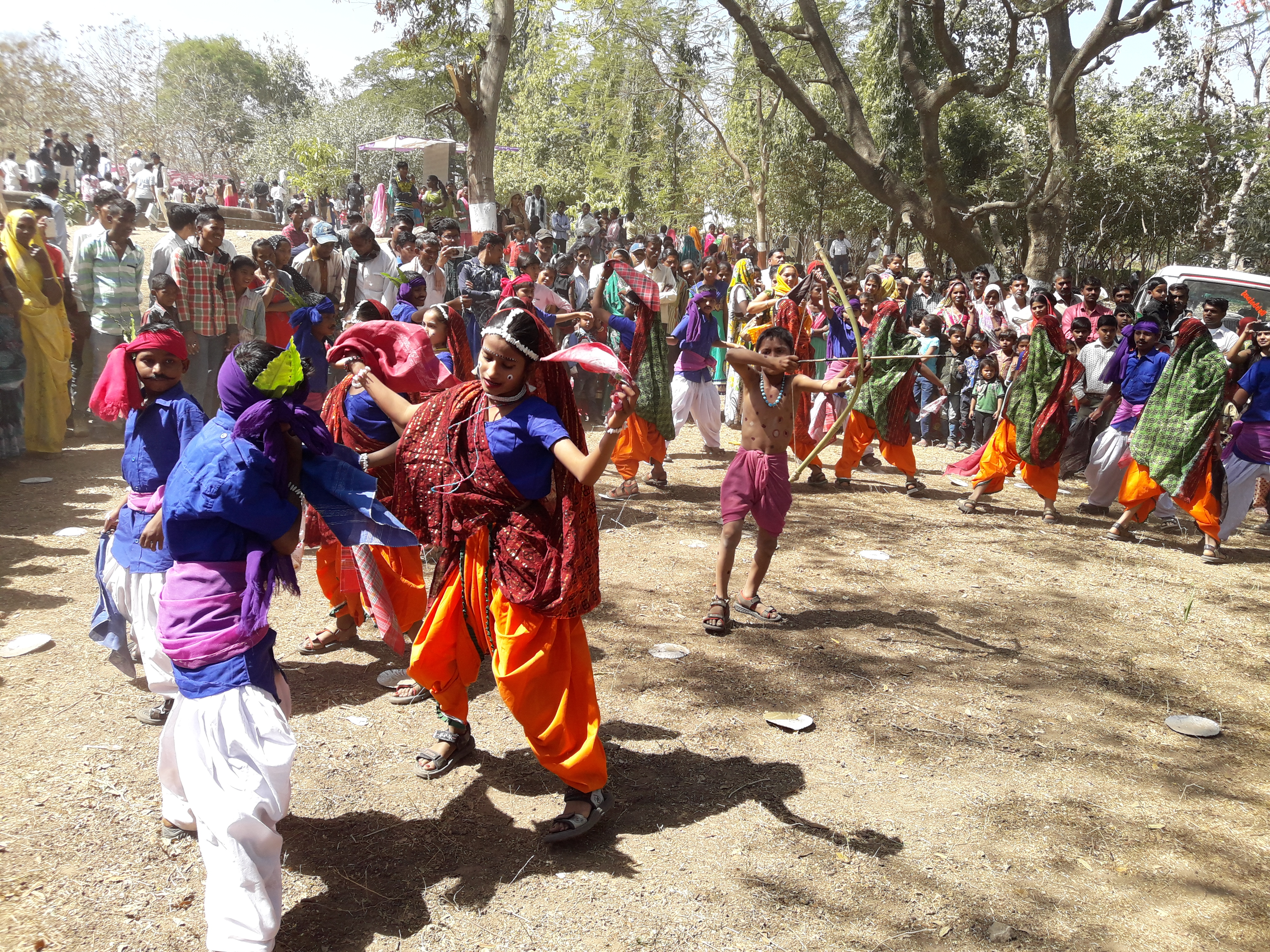 Timli A Gujarati Folk Dance Performed By Adivasi Children Of Panchmahal