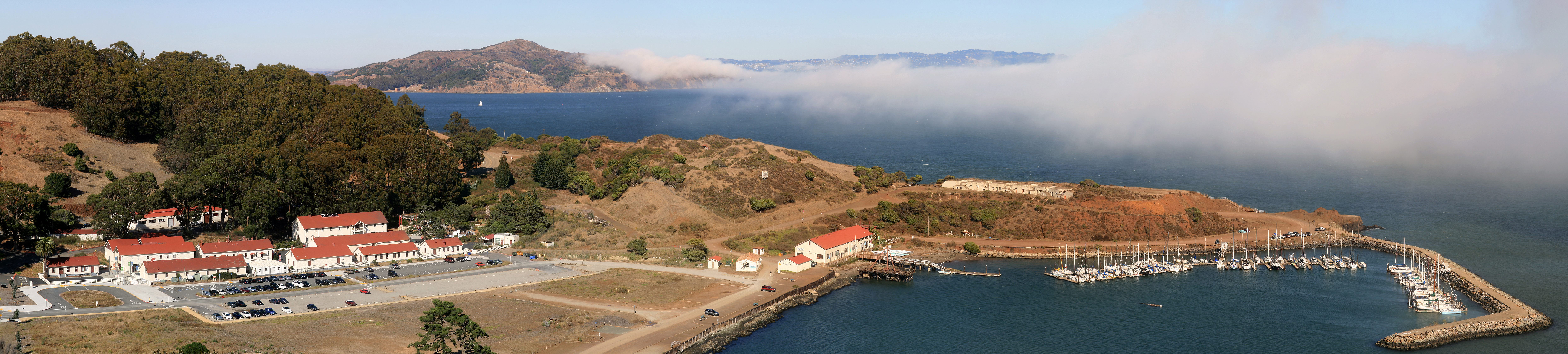 Fort Baker Angel Island and the fog