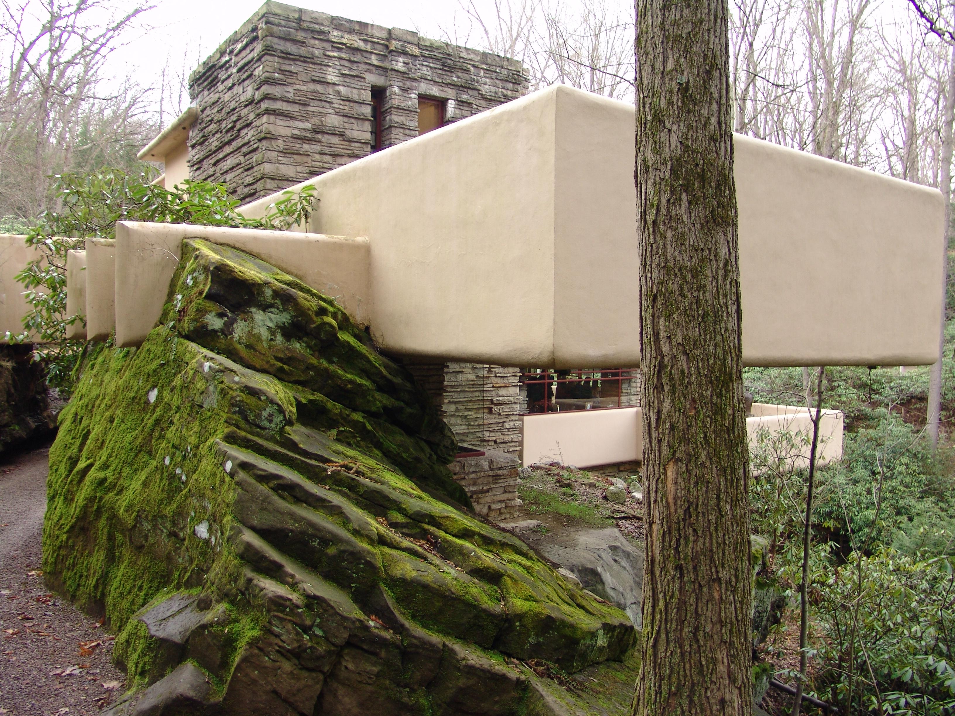 the fallingwater house by frank lloyd wright wanderlust the creative ham. Black Bedroom Furniture Sets. Home Design Ideas