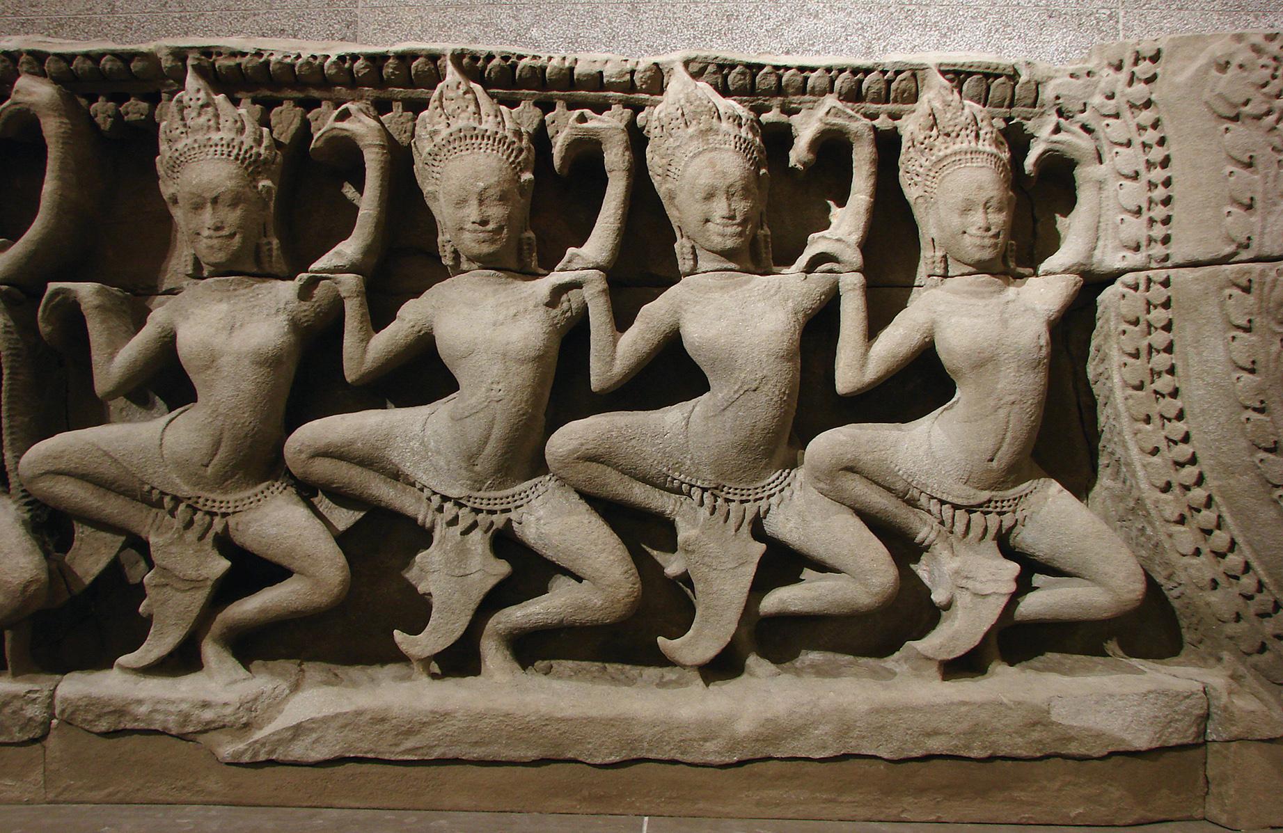 Dancing apsaras