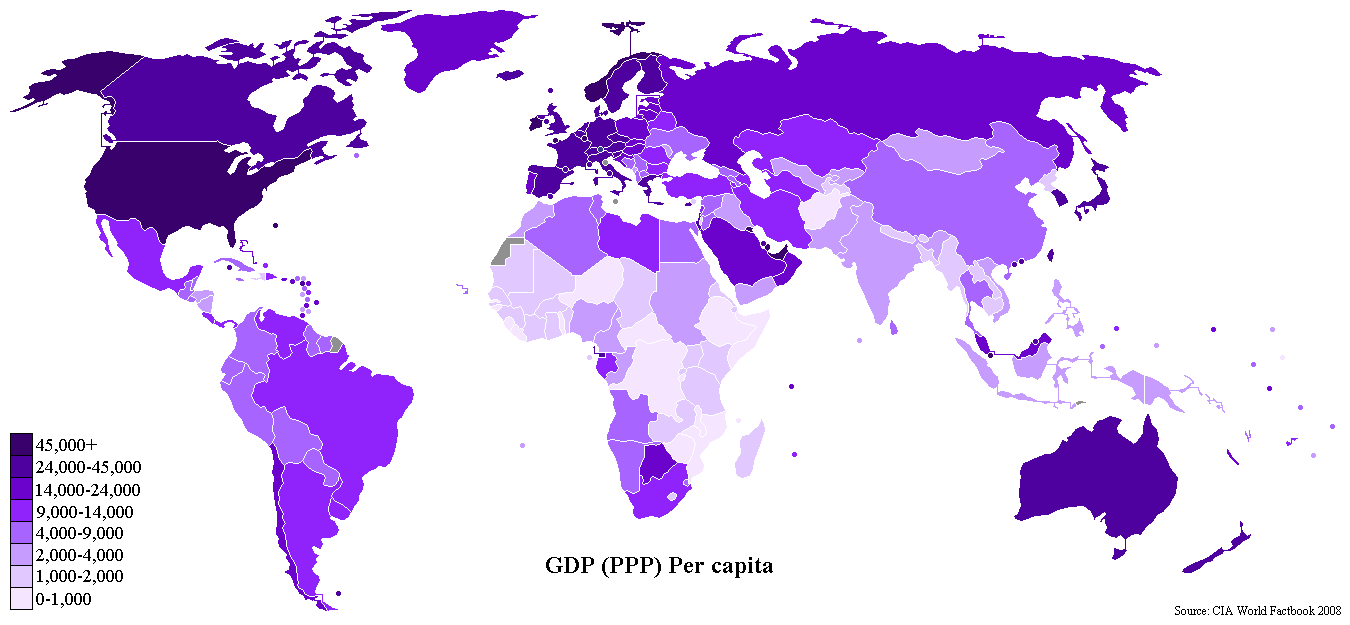 File GDP PPP Per Capita Worldmap 2007 CIA factbook PNG Wikimedia Commons
