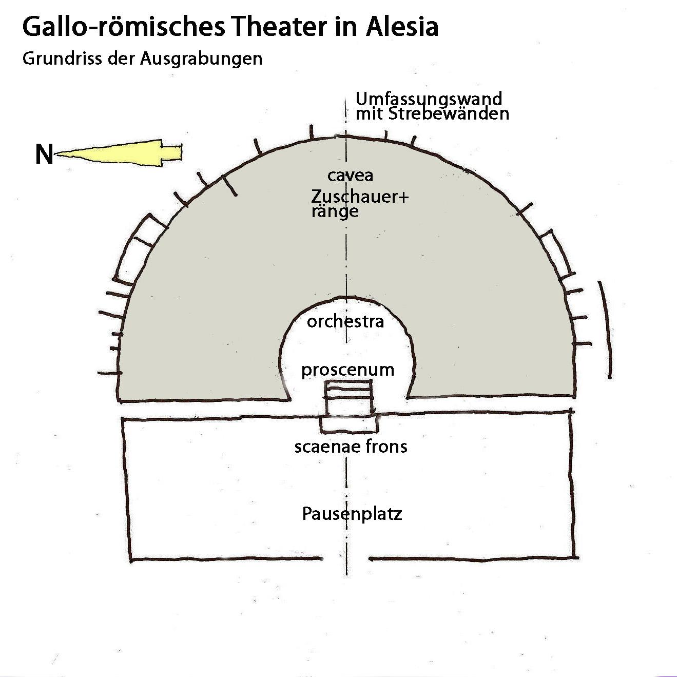 File:Galloröm. Theater in Alesia, Grundriss.JPG ...