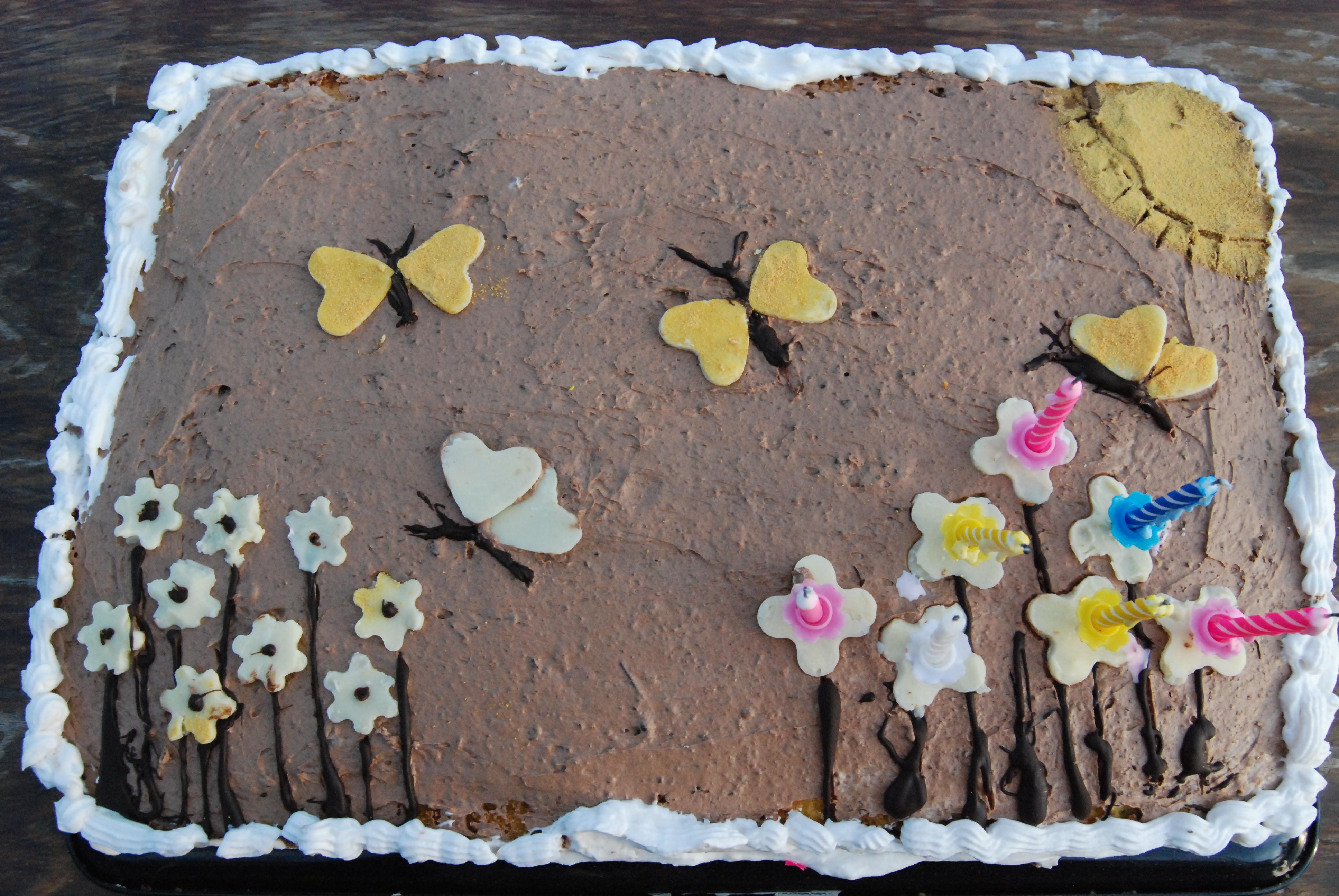 Superb File Grandmas Birthday Cake For Granddaughter Wikimedia Commons Funny Birthday Cards Online Chimdamsfinfo