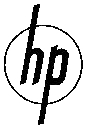 This is an image of the original HP logo as fi...