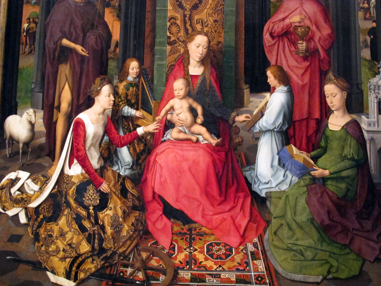 Le Mariage mystique de sainte Catherine Hans Memling