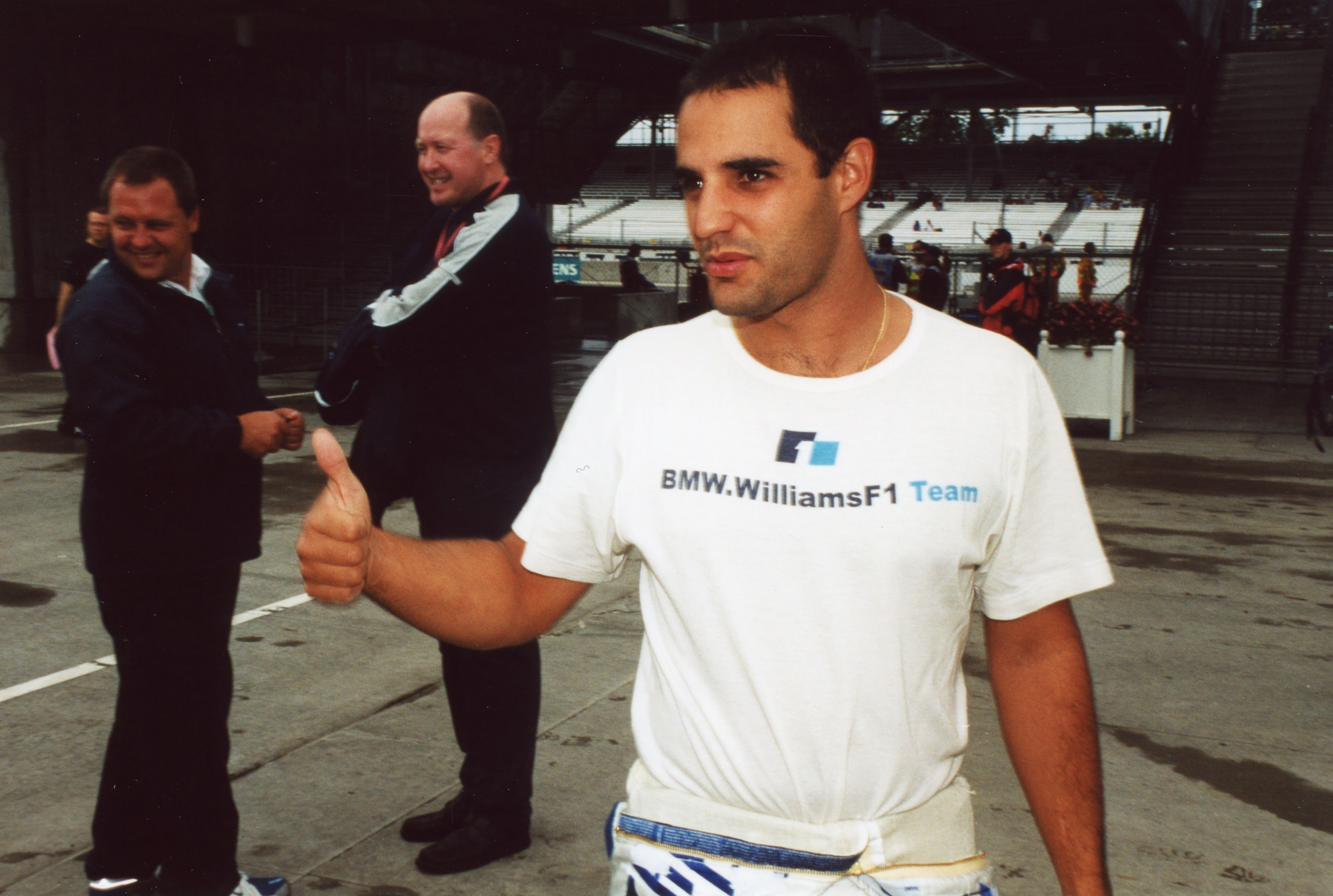 Juan Pablo Montoya was third with the Williams...