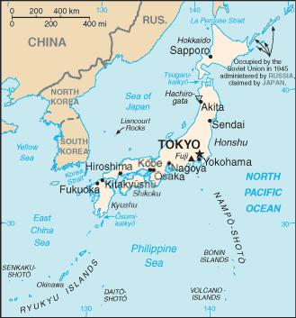 FileJapan CIA Mappng Wikimedia Commons - Japan map 2014