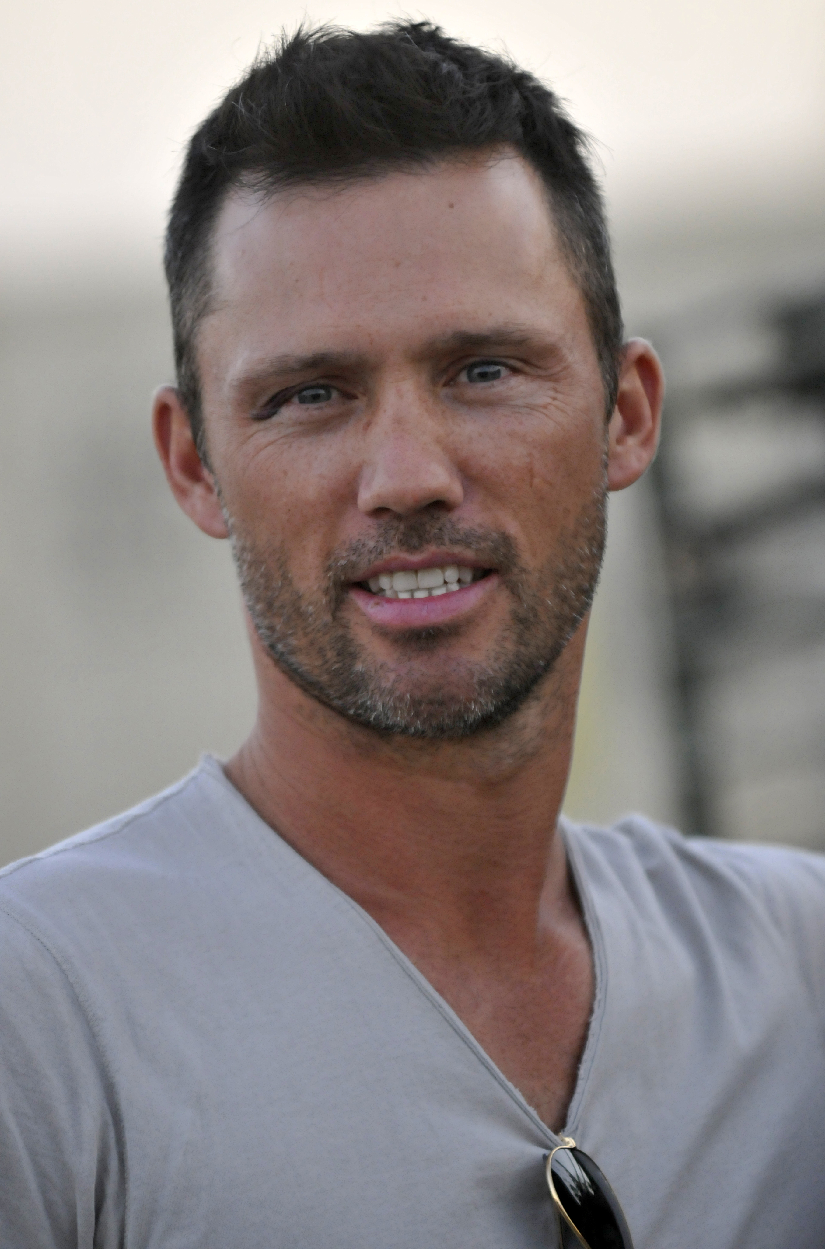 The 50-year old son of father (?) and mother(?) Jeffrey Donovan in 2018 photo. Jeffrey Donovan earned a  million dollar salary - leaving the net worth at 10 million in 2018