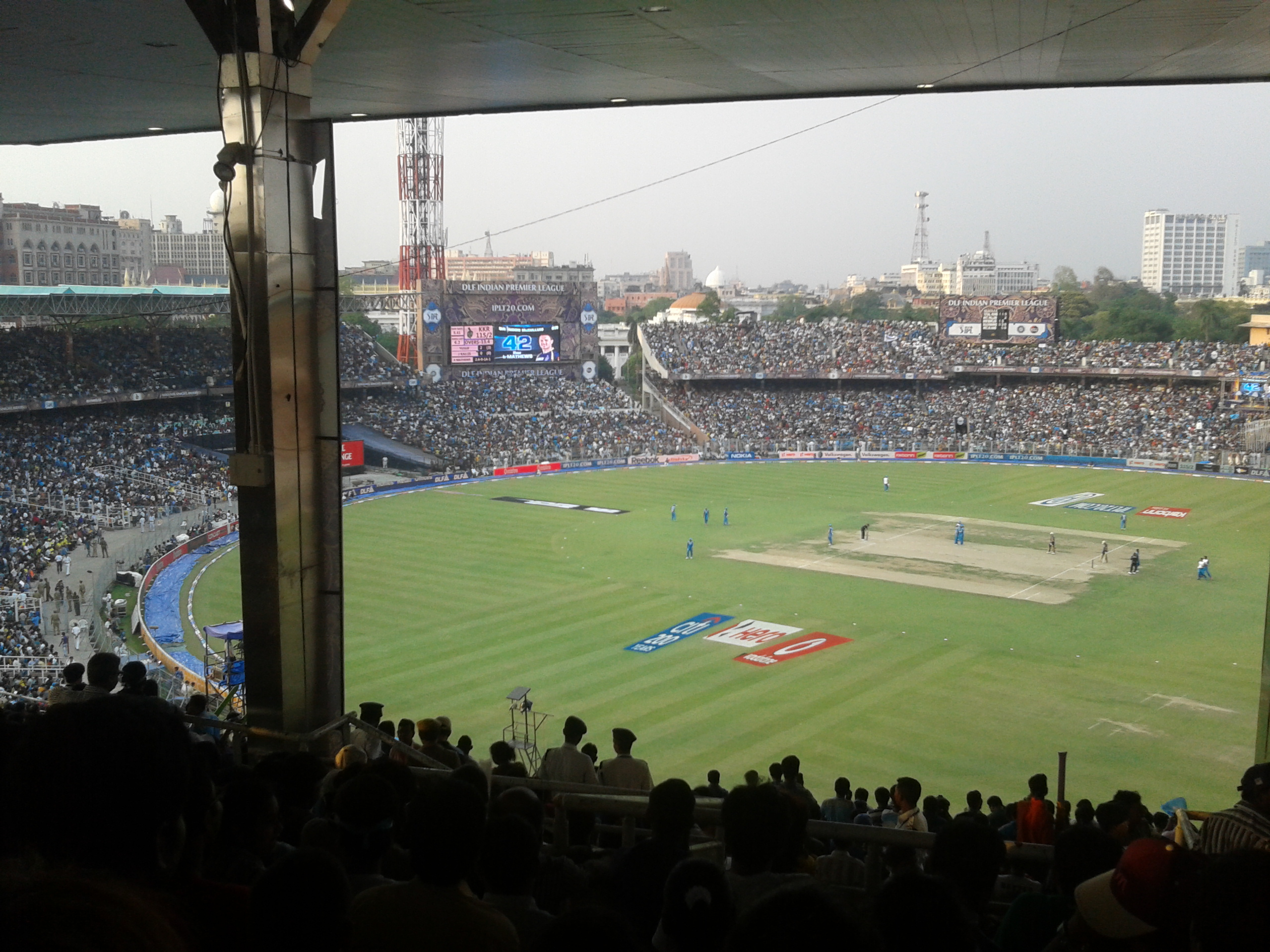 A Twenty20 cricket match between Kolkata Knight Riders and Pune Warriors during Indian Premier League 2012