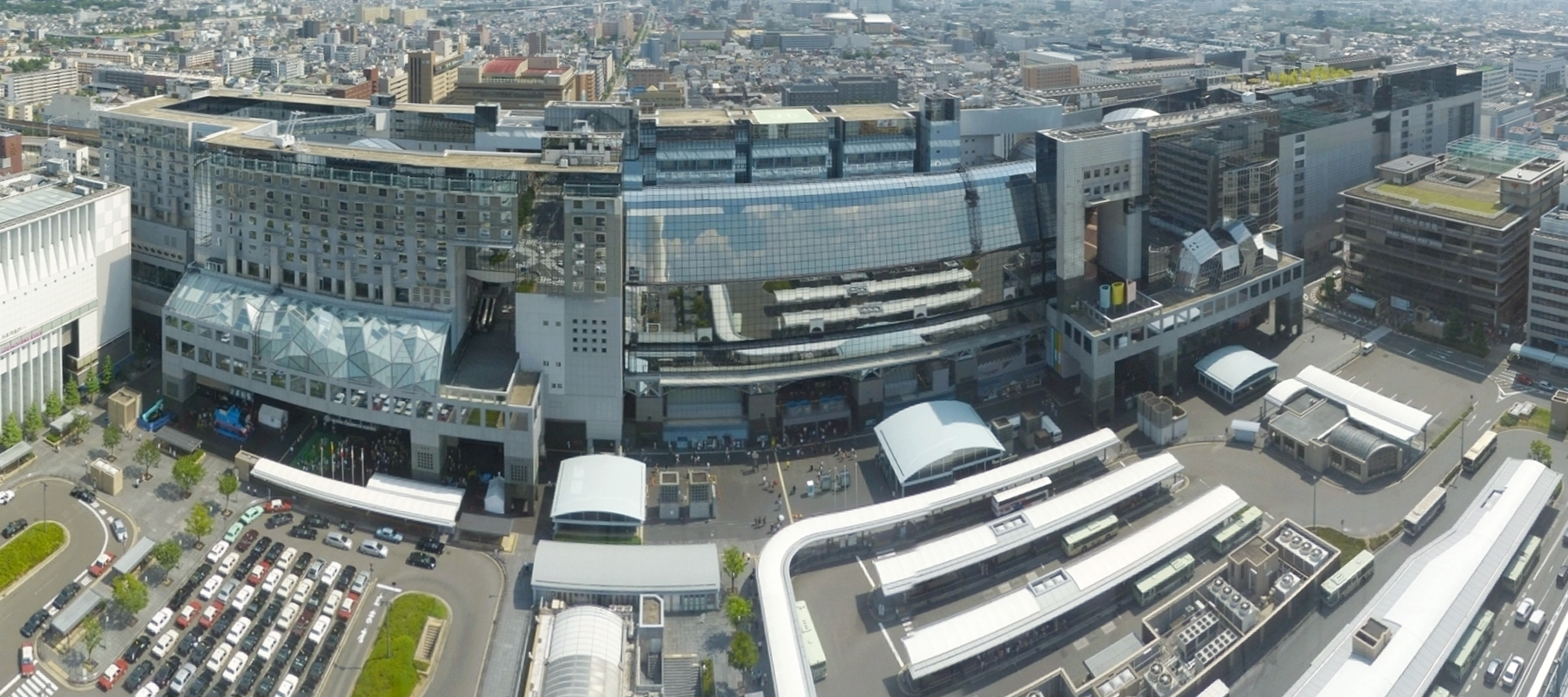 Kyoto Station Panorama-view from Kyoto Tower 2013-07-21.jpg