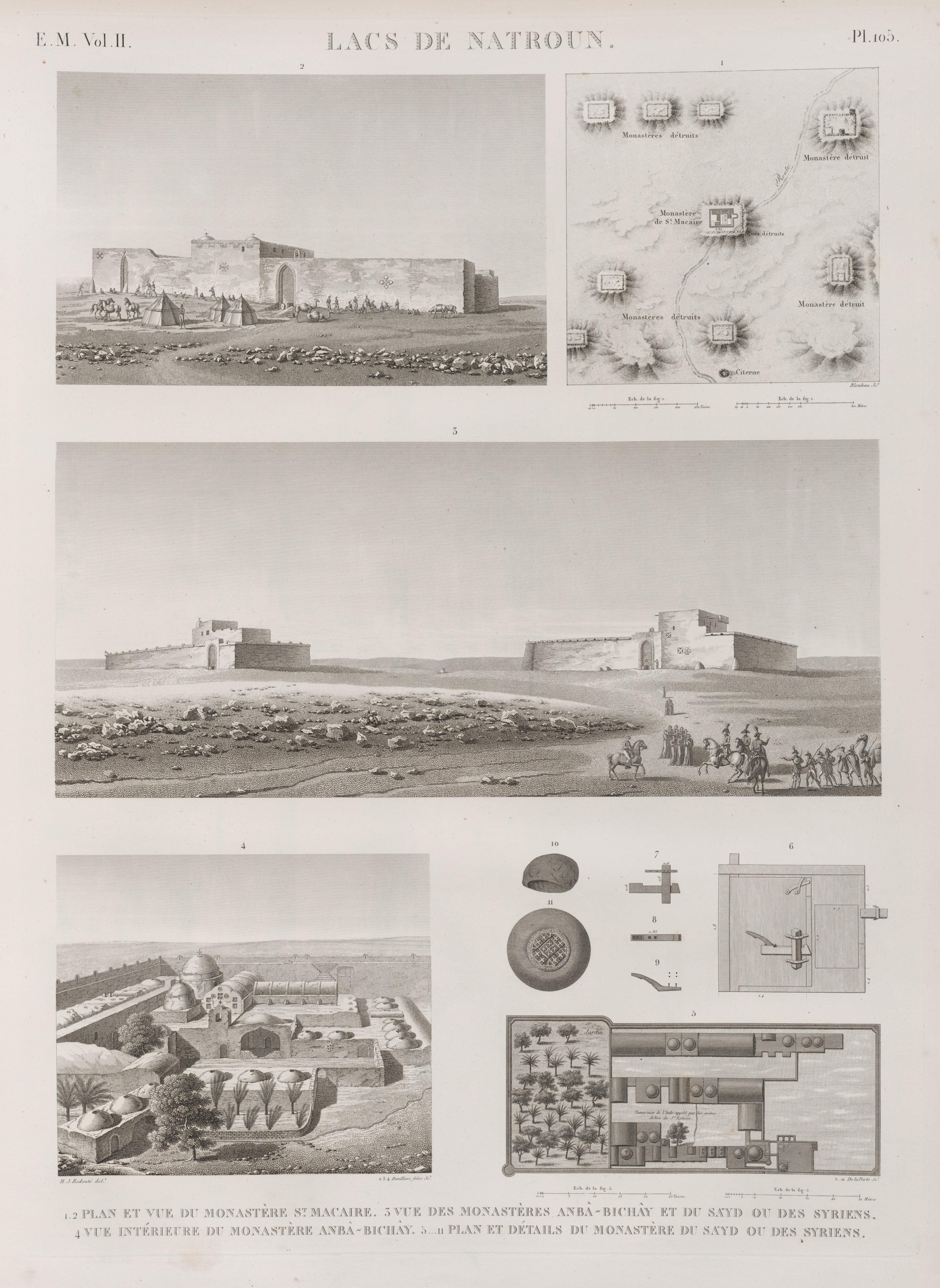 Filelacs De Natroun 12 Plan Et Vue Du Monastère St Macaire 3
