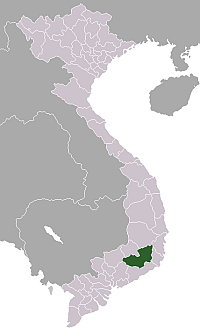 Location of Lâm Đồng Province