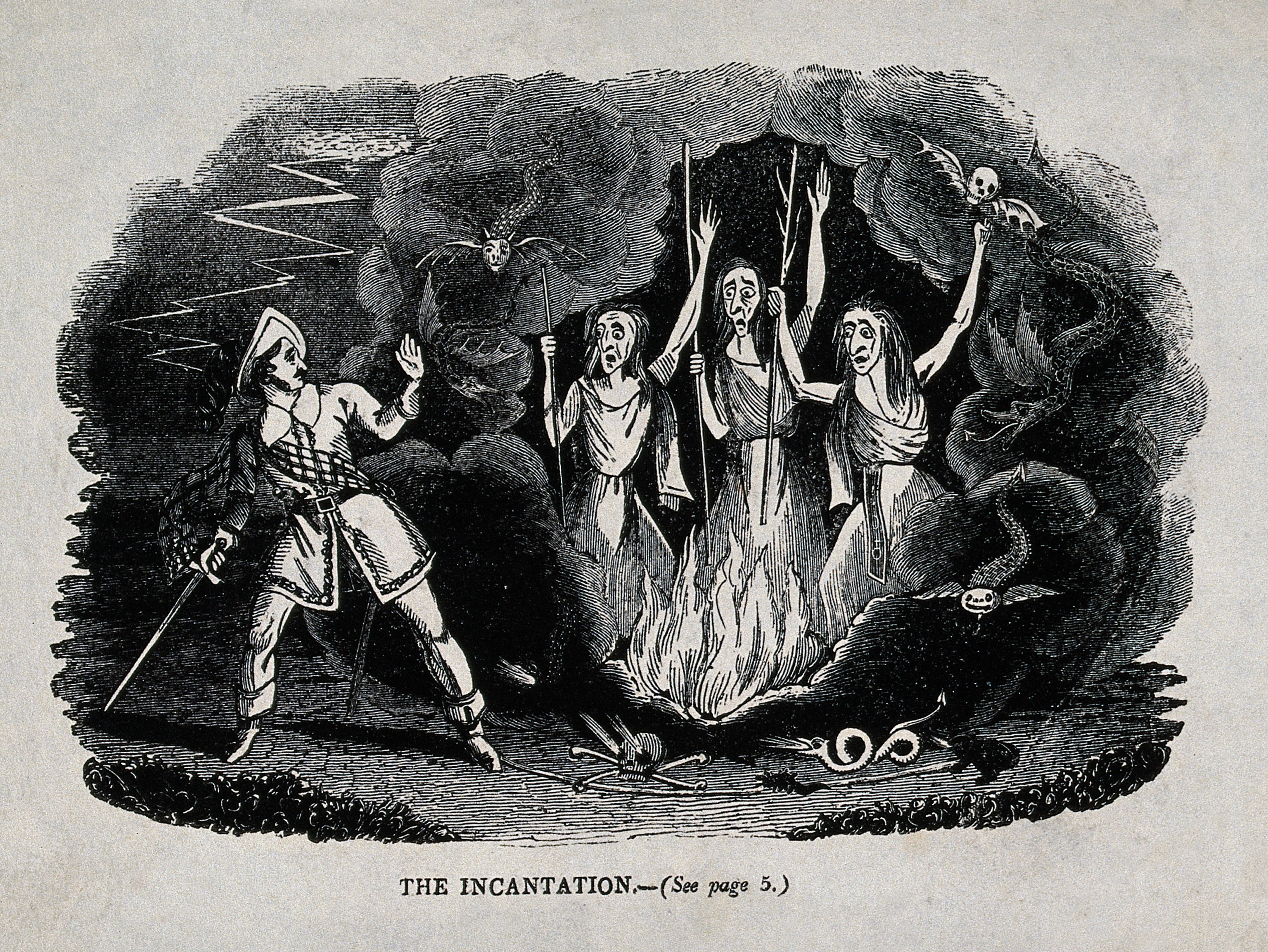 An analysis of the three witches in macbeth by william shakespeare