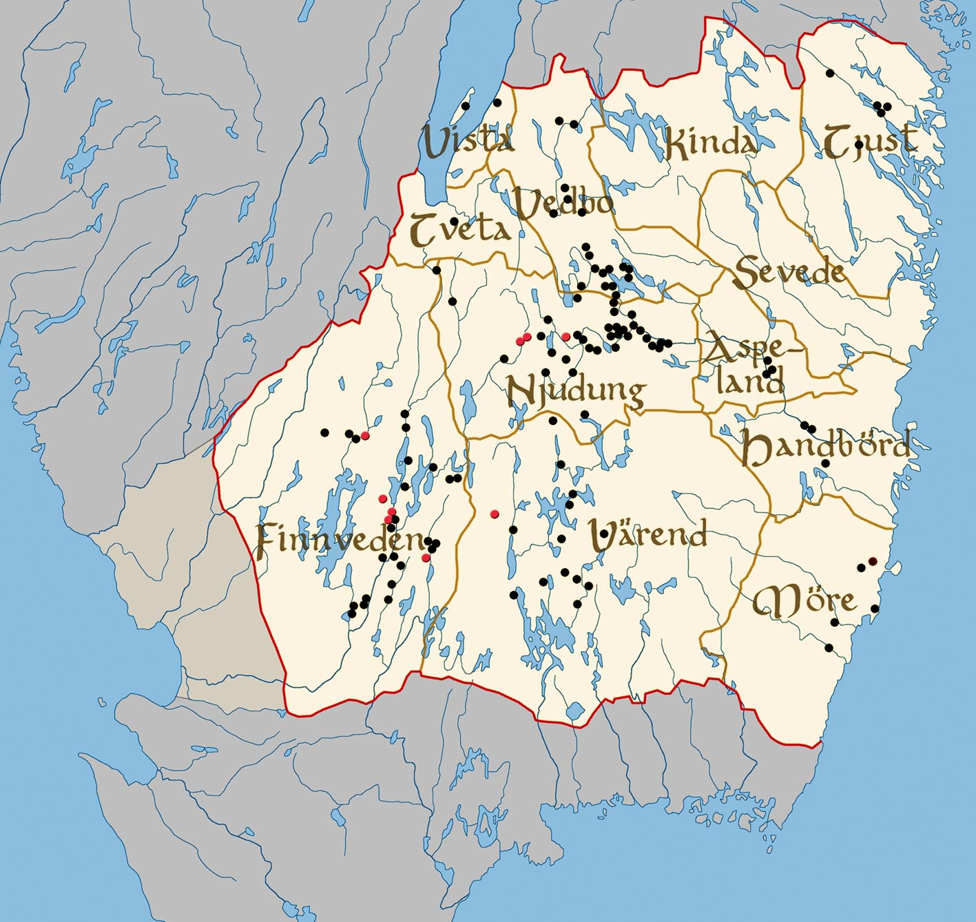 FileMap Of Landscape Smaland Swedenjpg Wikimedia Commons - Sweden map jpg