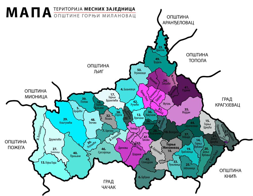 gornji milanovac mapa File:Mapa opštine gornji milanovac.   Wikimedia Commons gornji milanovac mapa