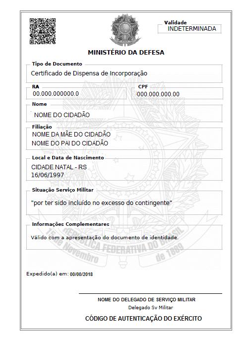 Certificado De Dispensa De Incorporacao Wikipedia A Enciclopedia Livre