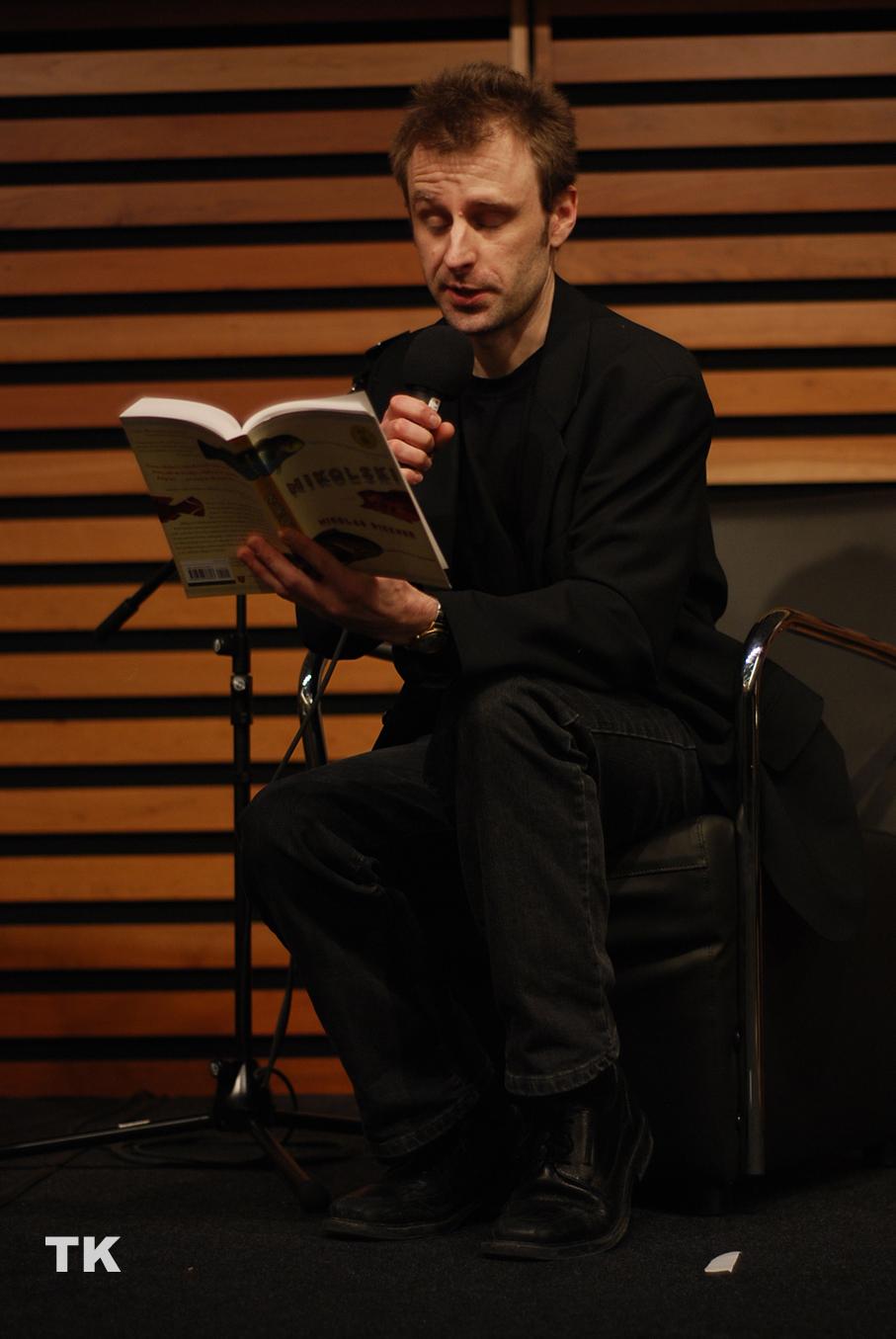 Dickner at a 2010 reading