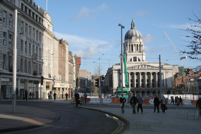 File:Old Market Square, Nottingham from Long Row West - geograph.org.uk - 318522.jpg