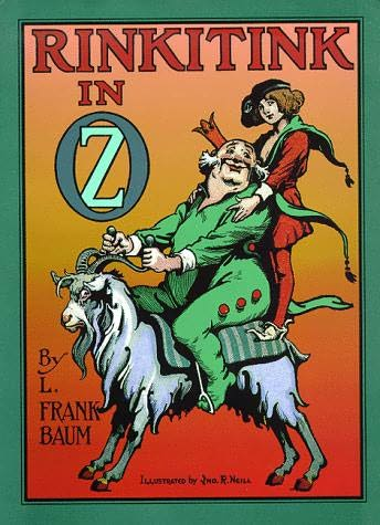 "The original 1916 cover to ""Rinkitink in ..."