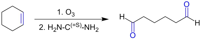 Восстановительный озонолиз циклогексена