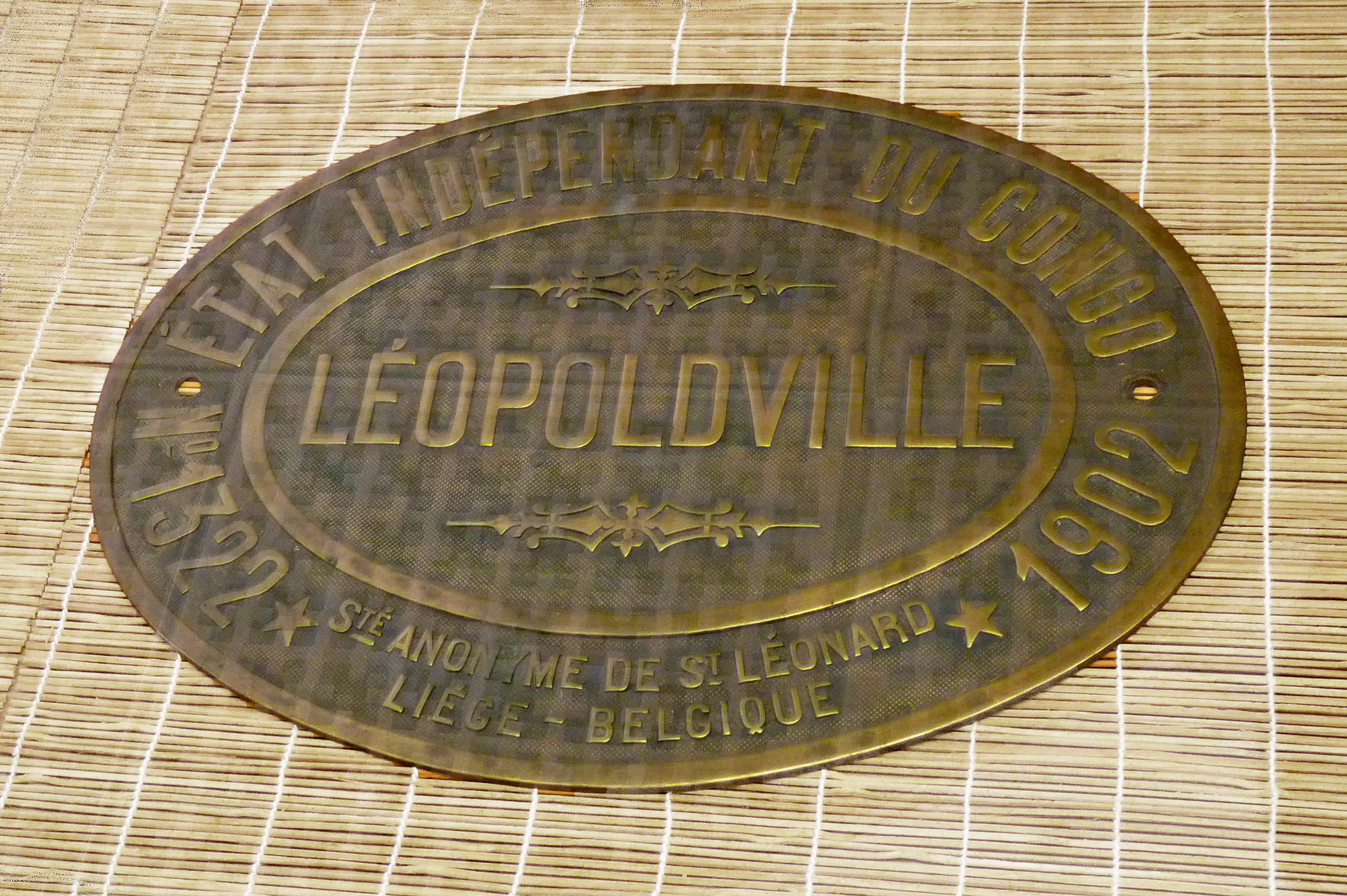 File plaque de locomotive etat ind pendant du congo wikimedia commons - Plaque de melamine a coller ...