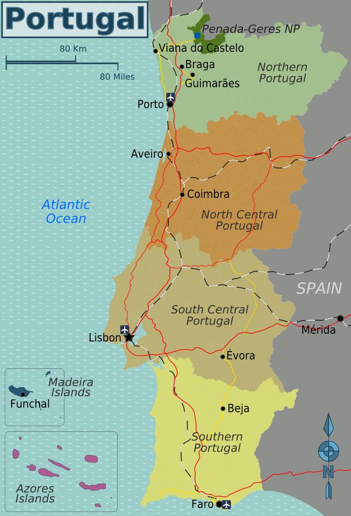 Porto Portugal Karte.File Portugal Regions Png Wikimedia Commons