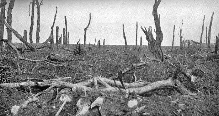 Batalla del Somme Pozieres_view_north_28_August_1916