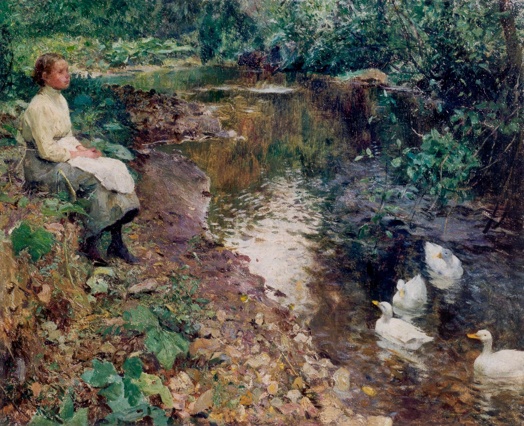 File r verie pr s du ruisseau huile sur toile 50 x 60 cm for Fenetre 50 x 60